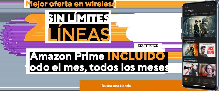 Mejor oferta en wireless.2líneas sin límites por $80cuando te cambias a Metro by T-Mobile. Amazon Prime incluido. Repleto de películas, programas de TV ycontenido galardonado Amazon Originals.