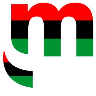 Logotipo de Metro by T-Mobile con los colores de la bandera afroamericana