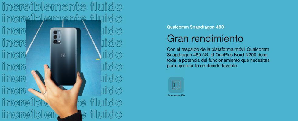 Con el respaldo de la plataforma móvil Qualcomm Snapdragon 480 5G, el OnePlus Nord N200 tiene toda la potencia del funcionamiento que necesitas para ejecutar tu contenido favorito.