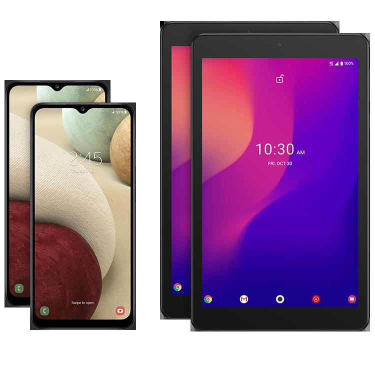 2 teléfonos, 2 tablets