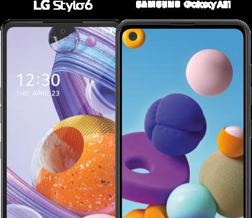 TeléfonosLG y Samsung de Metro