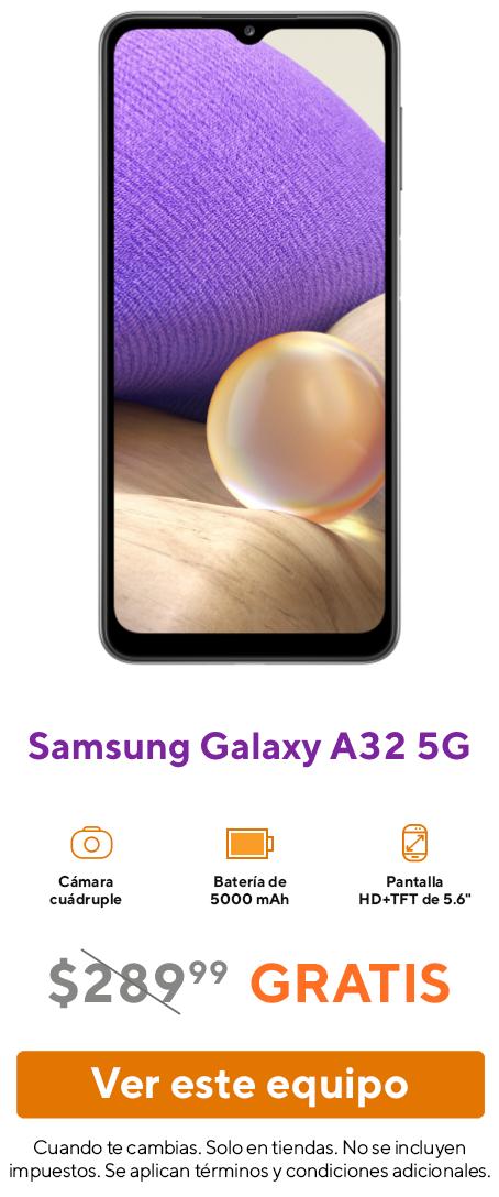 El smartphone Samsung Galaxy A32 5G.