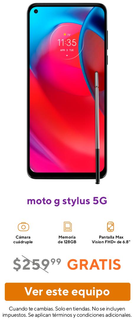 El smartphone moto g stylus 5G.