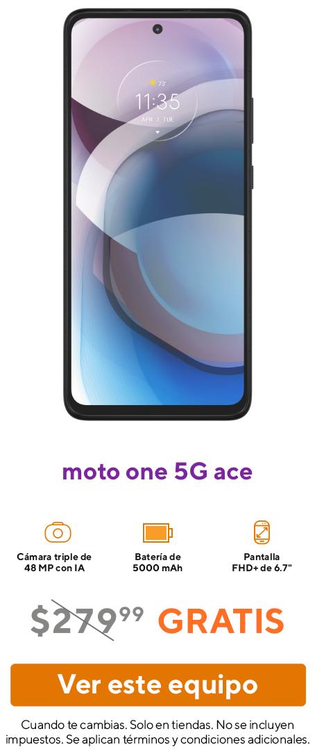 El smartphone motorola one 5G ace.