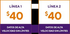 2 líneas por $80. Metro by T-Mobile.