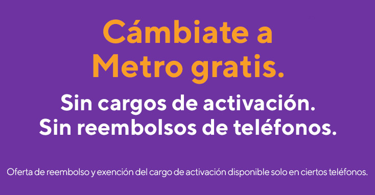 En estas fiestas, cámbiate a Metro gratis