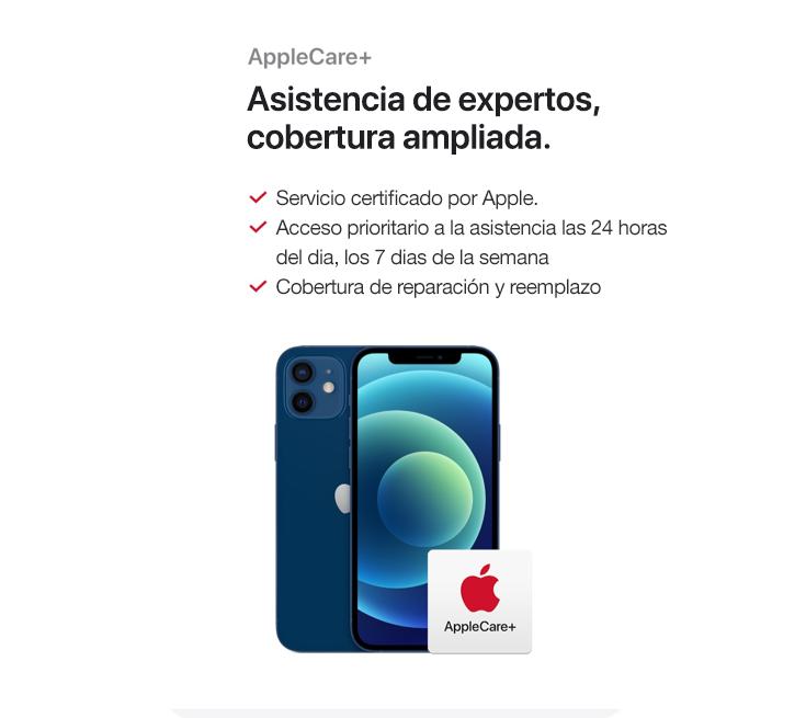 AppleCare+ asistencia de expertos, cobertura ampliada. Servicio certificado por Apple.Acceso prioritario a la asistencia las 24 horas del día, los 7 días de la semana. Cobertura de reparación y reemplazo.