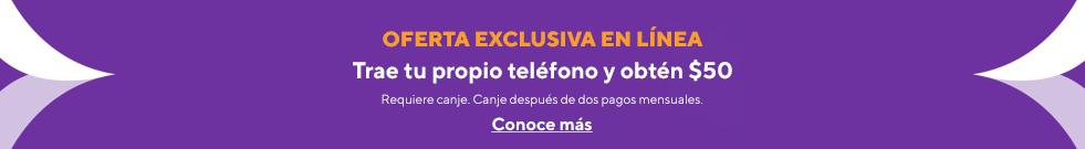 ¡Oferta en línea! Trae tu teléfono y obtén una tarjeta de regalo de $50. Metro by T-Mobile.