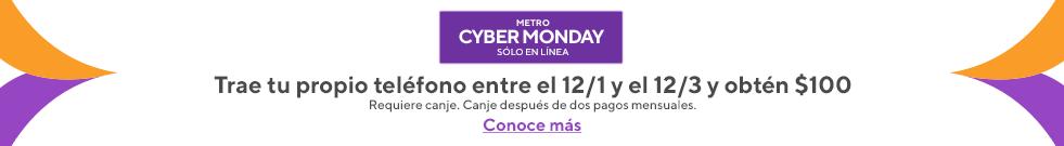 ¡Oferta en línea! Trae tu teléfono y obtén una tarjeta de regalo Visa de $100. Metro by T-Mobile.