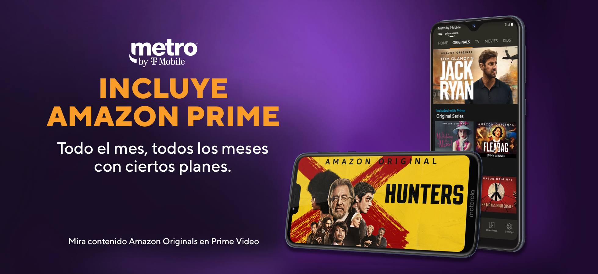 Amazon Prime. Ahora Metro by T-Mobile incluye Amazon Prime con tu plan de $60.