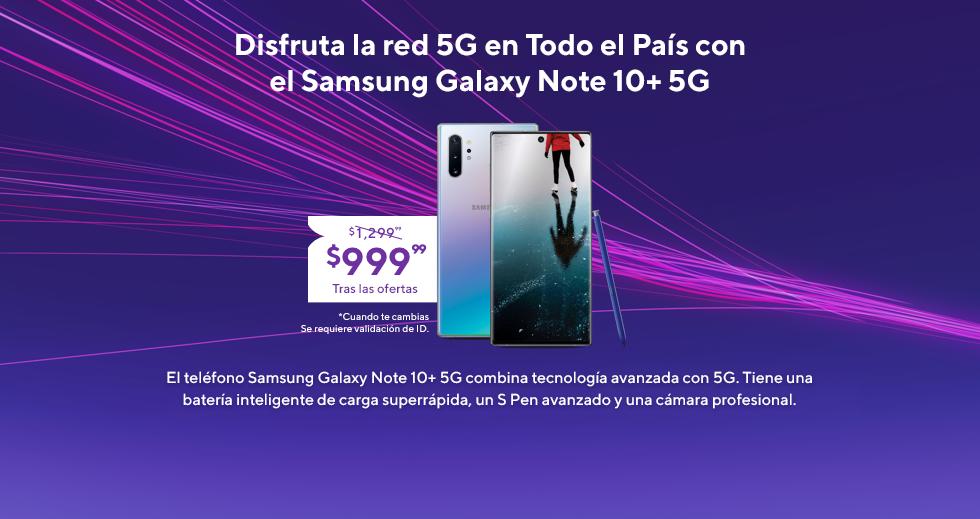 El Samsung Galaxy Note10+ 5G está en Metro. El Galaxy Note10+ 5G combina tecnología avanzada con 5G. Tiene una batería inteligente de carga superrápida, un S Pen avanzado y una cámara profesional.